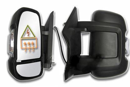 Fiat Ducato, Boxer, Relay Full Door Wing Mirror Electric Short Arm Left Driver Side 2006 To 2013