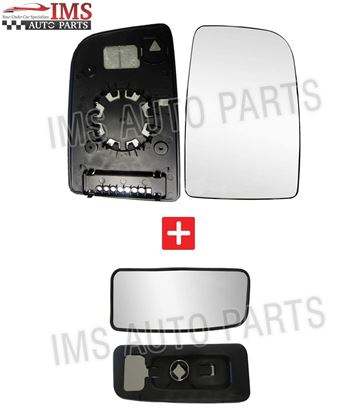 Mercedes Sprinter Wing Mirror Upper Large+Lower Small Glass PUSH On Right Side O/S