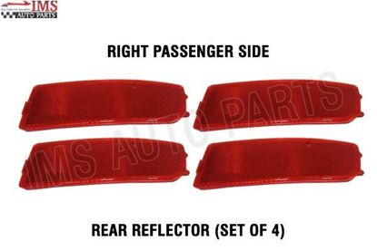NEW MERCEDES BENZ DODGE SPRINTER BUMPER RED REFLECTOR RIGHT PASSENGER SIDE SET OF 4 2007 TO 2016