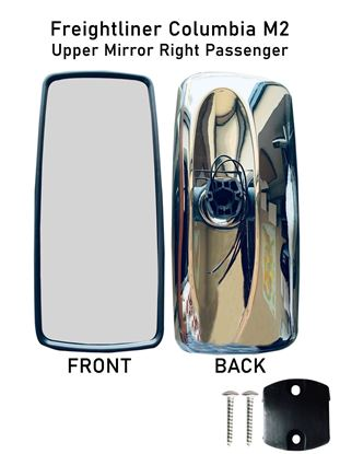 Freightliner Columbia M2 Chrome Mirror Glass Heated Right Passenger Side 2010 To 2016
