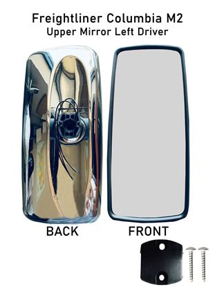 New Freightliner Columbia M2 Chrome Mirror Heated Full Left Driver Side 2010 To 2016