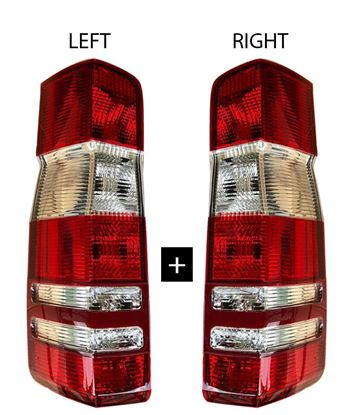 Mercedes Sprinter Rear Back Tail Light Lens Right Passenger Side O/S And Left Driver Side N/S 2007 To 2016