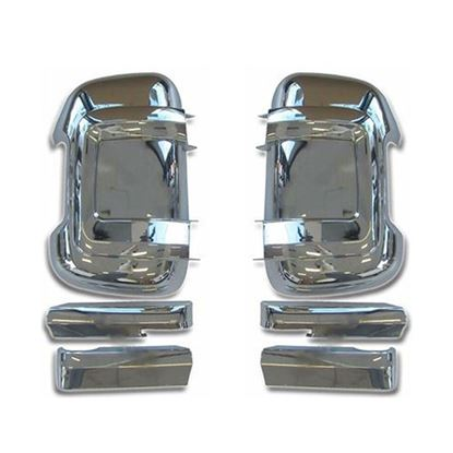 Dodge Ram ProMaster 1500 2500 3500 Long Arm Chrome Mirror Door Cover Left Driver and Right Passenger Side 2014 To 2015