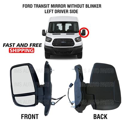 Ford Transit 150 250 350 Electric Manual Mirror Short Arm Without Blinker Left Driver Side 2015 To 2019