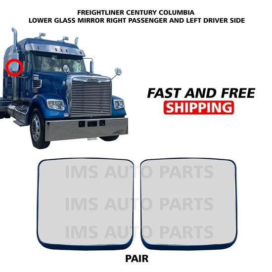 Freightliner Columbia Century Mirror Glass Small Heated Right Passenger and Left Driver Side 2005 To 2015