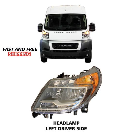 Ram ProMaster Brand New Halogen Headlight Lamp Left Driver Side 2014 To 2019