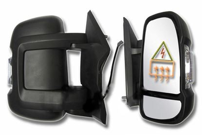 Fiat Ducato, Boxer, Relay Full Door Wing Mirror Electric Short Arm Right Passenger Side 2006 To 2013