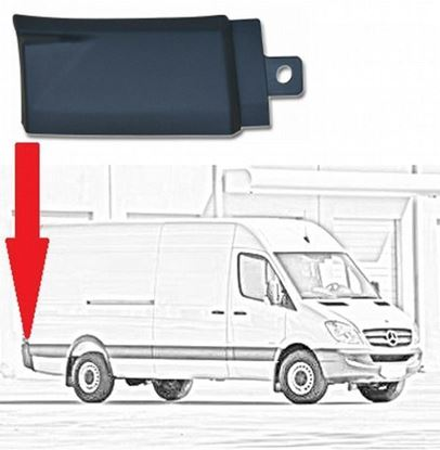 Mercedes Sprinter LWB & MWB Plastic Protective Side Moulding Strip Trim Right Passenger Side 2007 To 2016