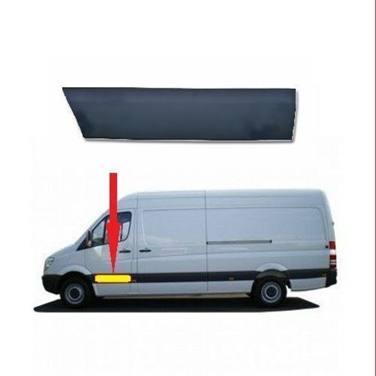 Mercedes Sprinter LWB & MWB Plastic Protective Side Moulding Strip Trim Left Driver Side 2007 To 2016