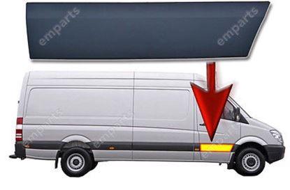 Mercedes Sprinter LWB & MWB Plastic Protective Side Moulding Strip Trim Right Passenger Side 2007 To 2016