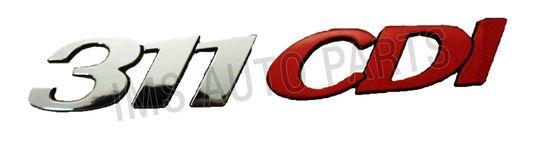 "Mercedes Sprinter W906 Self Adhesive Rear Back "" 311 CDI "" Badge Emblem 2006 On"