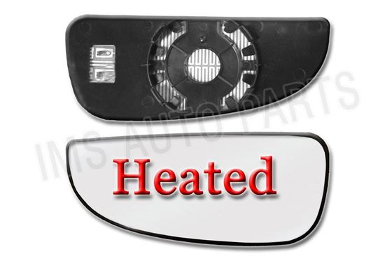 Fiat Ducato Heated Lower Bottom Blind Spot Wide Wing Mirror Small Glass Left Driver Side N/S 2006 To 2013