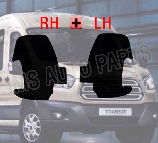 NEW FORD TRANSIT MK8 WING MIRRORS COVER CASING BLACK RIGHT O/S LEFT N/S 2014-16
