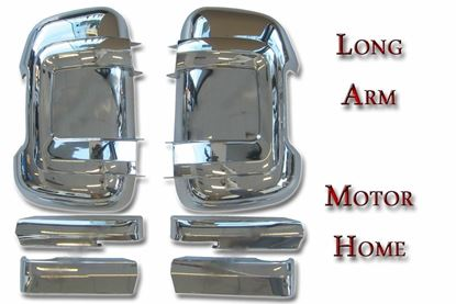 Fiat Ducato Peugeot Boxer Citroen Door Mirror Casing Cover Chrome Long Arm Pair Right Passenger And Left Driver Side 2006 To 2013