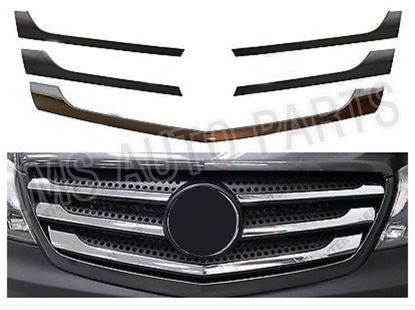 Mercesdes Sprinter W906 front Chrome Grill Strips Facelift Model 5pc 2013 Onward