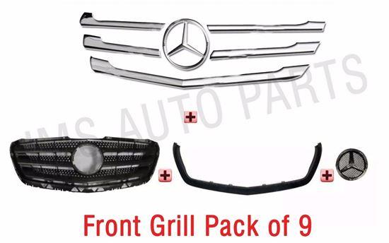 Mercedes Sprinter Front Grill+Trim Strip Stainless Chrome Facelift 9Pcs Full Bag
