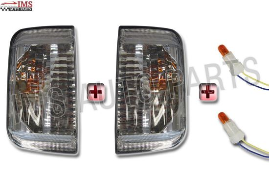 Fiat Ducato Citroen Relay Door Mirror Indicator Lens Left Driver And Right Passenger Set With Bulb 2006 To 2013