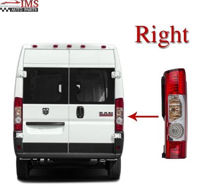 DODGE RAM PRO MASTER Tail Light Lamp lens Right Passenger Side O/S