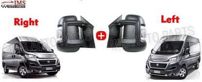 Fiat Ducato Full Door Wing Mirror Electric Short Arm Left Driver And Right Passenger Side Pair 2006 To 2013