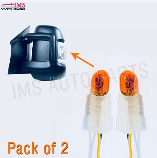 Fiat  Ducato Indicator Lens Bulbs 12V 5W With Holder Pair RIght Passenger And Left Driver Side 2006 To 2013