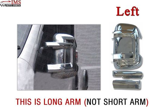 FIAT DUCATO LONG ARM WING MIRROR CHROME CASING COVER LEFT DRIVER SIDE WITH ARMS 2006 TO 2013