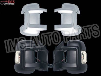 Dodge Ram Pro Master 1500 Door Mirror Short Arm Chrome Cover Casings Right Passenger And Left Driver Side 2014 To 2015
