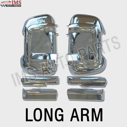 Peugeot Boxer Door Mirror Casing Cover Chrome LONG ARM Pair 2006 TO 2013