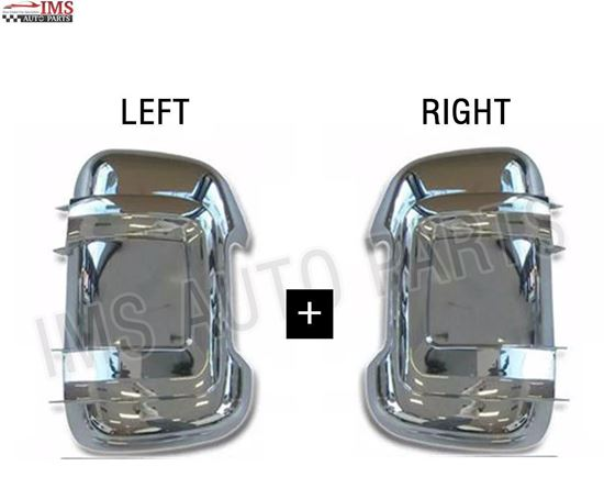 NEW FIAT DUCATO MIRROR CHROME BACK COVER LONG ARM RIGHT PASSENGER AND LEFT DRIVER PAIR 2006 TO 2013