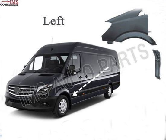 MERCEDES SPRINTER W906 FRONT FENDER PLUS FREE FENDER BRACKET LEFT DRIVER SIDE 2006 2013