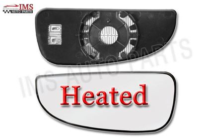 DODGE RAM PRO MASTER 1500 LOWER MIRROR SMALL GLASS HEATED LEFT DRIVER SIDE 2014 TO 2015