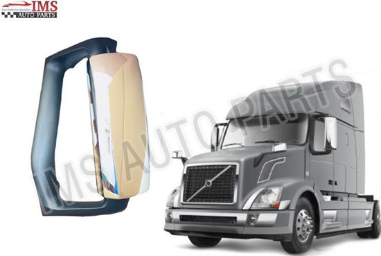 NEW VOLVO VNL VN 300 430 630 670 730 MIRROR ELECTRIC CHROME LEFT DRIVER SIDE 2004 TO 2017