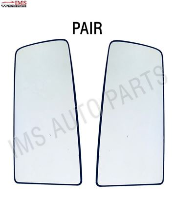 VOLVO VNL 300 430 630 670 730 MIRROR BIG GLASS HEATED LEFT DRIVER & RIGHT PASSENGER SIDE PAIR 2007 TO 2017