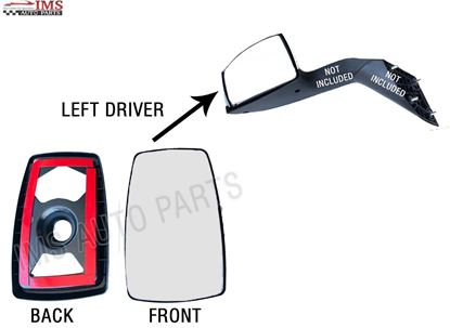 NEW VOLVO TRUCK VN VNL VNR HOOD MIRROR GLASS INNER FRAME SET LEFT DRIVER SIDE 2007 TO 2017