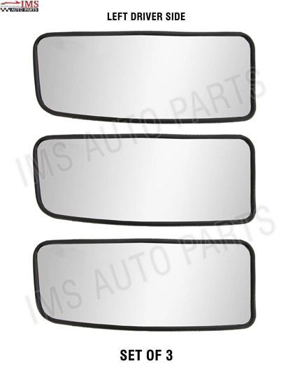 MERCEDES SPRINTER MIRROR LOWER SMALL GLASS PUSH LEFT DRIVER SIDE SET OF 3 NONE HEATED 2007 TO 2017