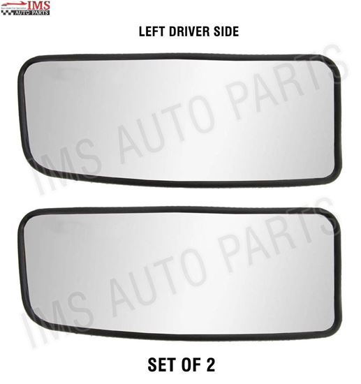 MERCEDES DODGE SPRINTER MIRROR SMALL GLASS PUSH LEFT DRIVER SIDE NONE HEATED SET OF 2 2007 TO 2016