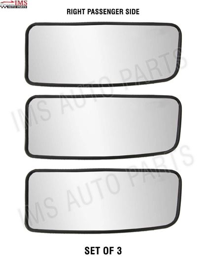 MERCEDES SPRINTER MIRROR LOWER SMALL GLASS PUSH RIGHT PASSENGER SET OF 3 NON HEATED 2007 TO 2016