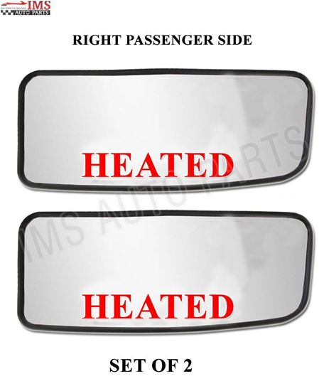 MERCEDES DODGE SPRINTER MIRROR SMALL GLASS HEATED WITH BACK RIGHT PASSENGER SIDE SET OF 2 2007 TO 2016 back to product list