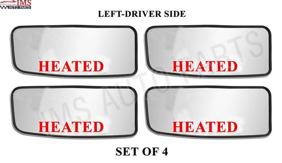 MERCEDES DODGE SPRINTER MIRROR SMALL HEATED GLASS WITH BACK LEFT DRIVER SIDE SET OF 4 2007 TO 2016