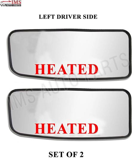 MERCEDES SPRINTER 250 350 MIRROR SMALL HEATED GLASS WITH BACK LEFT DRIVER SIDE SET OF 2 2007 TO 2016