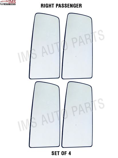 VOLVO VNL VNR MIRROR GLASS WITH BACKING ELECTRIC HEATED RIGHT PASSENGER SIDE SET OF 4 2016 TO 2018