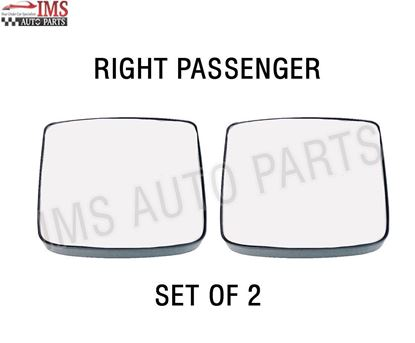 VOLVO VNL VNR VNX SIDE MIRROR SMALL GLASS HEATED WITH BACK RIGHT PASSENGER SIDE SET OF 2 2016 TO 2018