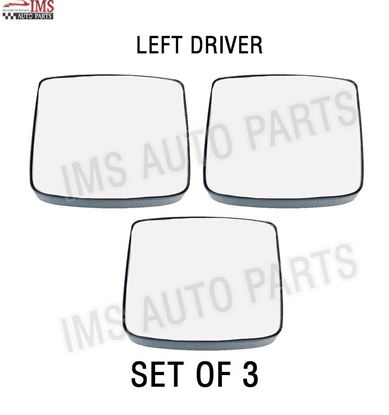 VOLVO VNL VNR VNX SIDE MIRROR SMALL GLASS LOWER HEATED WITH BACK LEFT DRIVER SIDE SET OF 3 2016 TO 2018