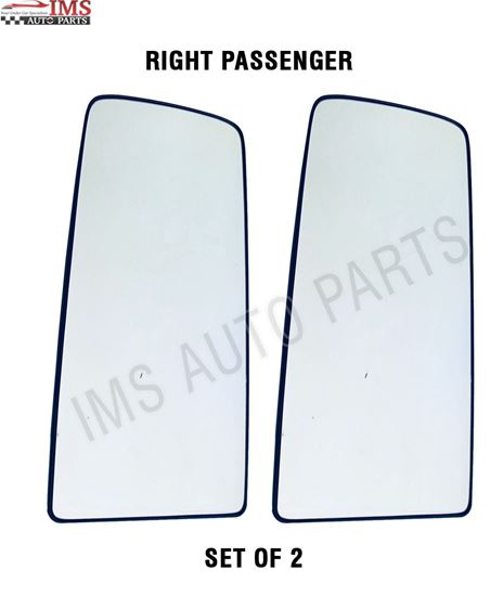 VOLVO VNL VNR 300 400 640 740 760 860 MIRROR UPPER GLASS WITH BACK HEATED RIGHT PASSENGER SIDE SET OF 2 2016 TO 2018