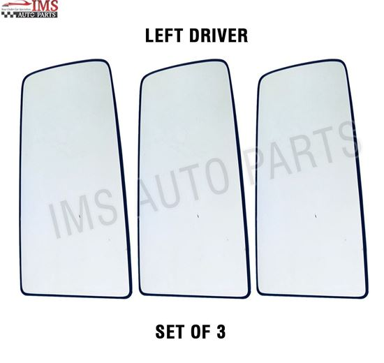 VOLVO VNL VNR MIRROR UPPER GLASS WITH BACK 300 400 640 740 760 860 HEATED LEFT DRIVER SIDE SET OF 3 2016 TO 2018