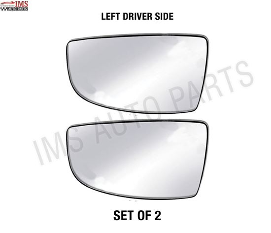 NEW FORD TRANSIT CARGO MIRROR GLASS SMALL NONE HEATED LEFT DRIVER SIDE WITH BACK SET OF 2 2014 TO 2017