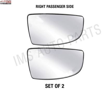 FORD TRANSIT CARGO VAN MIRROR GLASS SMALL NONE HEATED WITH BACK RIGHT PASSENGER SIDE SET OF 2 2014 TO 2017