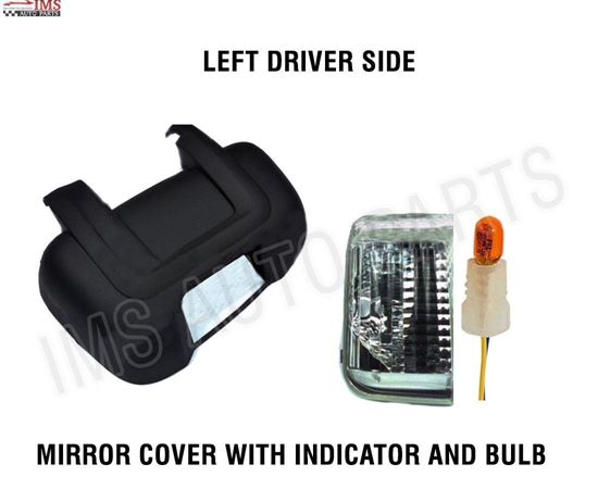 RAM PRO MASTER MIRROR COVER SHORT ARM INDICATOR PLUS BULB LEFT DRIVER SIDE 2014 TO 2016