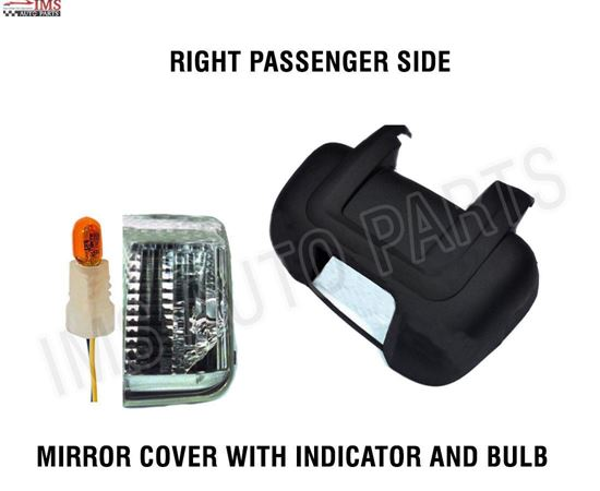 RAM PRO MASTER MIRROR COVER SHORT ARM INDICATOR PLUS BULB SET RIGHT PASSENGER SIDE 2014 TO 2016