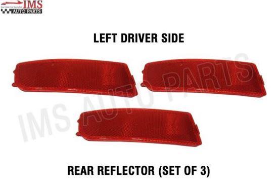 NEW MERCEDES BENZ DODGE SPRINTER BUMPER REFLECTOR RED LEFT DRIVER SET OF 3 2007 TO 2017