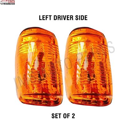 FORD TRANSIT 150 250 350 MIRROR INDICATOR LENS AMBER ORANGE LEFT DRIVER SIDE SET OF 2 2014 TO 2018